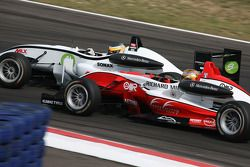 Christian Vietoris, Muecke Motorsport Dallara F308 Mercedes, Valtteri Bottas, ART Grand Prix Dallara