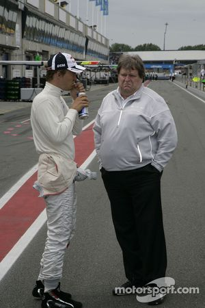 Mattias Ekström, Audi Sport Team Abt Audi A4 DTM with Norbert Haug, Sporting Director Mercedes-Benz