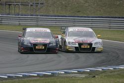 Mattias Ekström, Audi Sport Team Abt Audi A4 DTM et Martin Tomczyk, Audi Sport Team Abt Audi A4 DTM