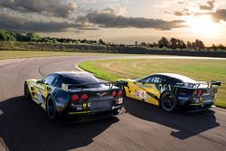 The next-generation Corvette Racing Corvette C6.R that will make its racing debu in the American Le Mans Series event at the Mid-Ohio Sports Car Course in the GT2 category