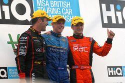 Le podium de la course 3