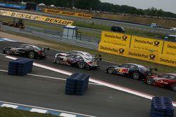 Start: Timo Scheider, Audi Sport Team Abt Audi A4 DTM leads the field