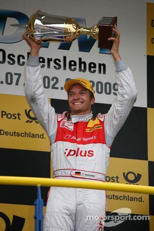 Podium: race winner Timo Scheider, Audi Sport Team Abt Audi A4 DTM