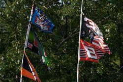 Des drapeaux à Watkins Glen