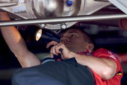Richard Petty Motorsports Dodge crew member at work