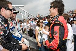 Casey Mears, Richard Childress Racing Chevrolet, Jimmie Johnson, Hendrick Motorsports Chevrolet and Ron Fellows, Phoenix Racing Dodge