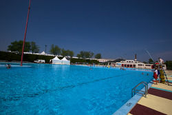 Swimming pool next to the paddock