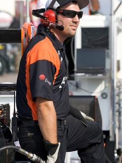 Newman Wachs Racing crew member
