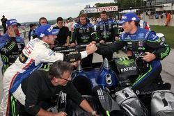 Race winner David Brabham celebrates