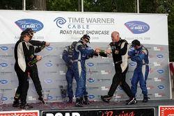 Challenge podium celebration