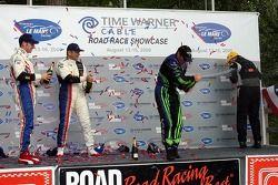 P1 podium celebration
