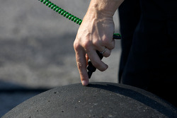 Tire temperature check