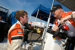Jonathan Summerton, Newman Wachs Racing celebrates after setting the fastest time in practice