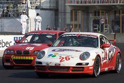 BGB Motorsports Porsche 997 : David Riddle, Kris Wilson; Automatic Racing BMW M3 Coupe : Mark Hille