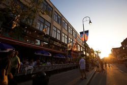 The calm before the storm: Boulevard des Forges in downtown Trois-Rivières, on Thursday evening bef