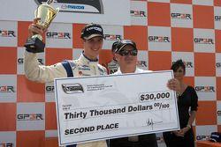 Podium: second place John Edwards, Newman Wachs Racing
