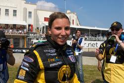 Podium: race winner Simona De Silvestro, Team Stargate Worlds