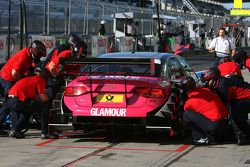 Pitstop practice of Katherine Legge, Audi Sport Team Abt Audi A4 DTM