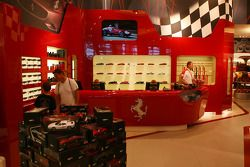 Ferrari store in the fan zone boulevard, part of the new Ring Werk