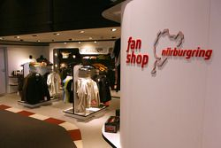 Paddock shop in the fan zone boulevard, part of the new Ring Werk