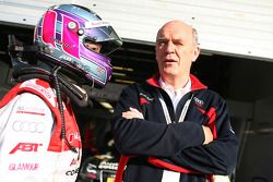 Katherine Legge, Audi Sport Team Abt and Dr. Wolfgang Ullrich, Audi's Head of Sport