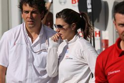 Katherine Legge, Audi Sport Team Abt after her crash