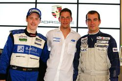 Porsche Supercup drivers Thomas Jäger, Robert Renauer and Jeroen Bleekemolen