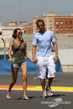 Jenson Button, Brawn GP and his girlfriend Jessica Michibata