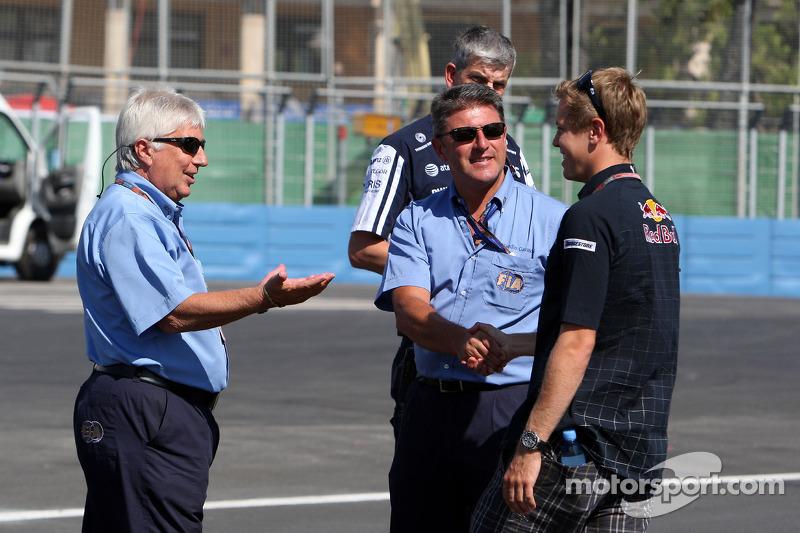 Herbie Blash, FIA Observer, Sebastian Vettel, Red Bull Racing