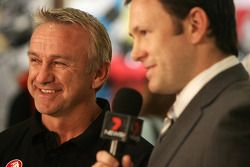 Russell Ingall being interviewed on TV