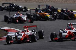 Start: Jules Bianchi, ART Grand Prix Dallara F308 Mercedes leads the field
