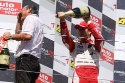 Podium: race winner Jules Bianchi, ART Grand Prix Dallara F308 Mercedes
