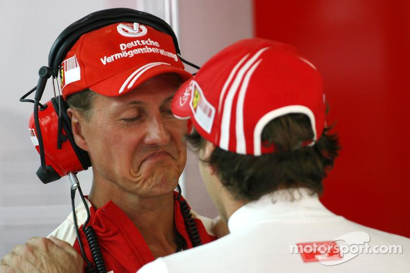 Michael Schumacher, Test Pilotu, Scuderia Ferrari ve Luca Badoer, Scuderia Ferrari