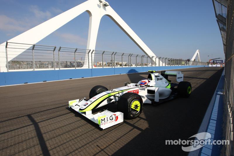 2009 - Valencia: Rubens Barrichello, Brawn-Mercedes BGP 001