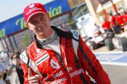 Nico Hulkenberg celebrates his pole position