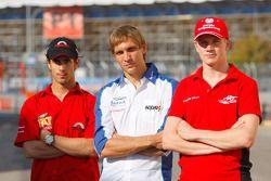Nico Hulkenberg, Vitaly Petrov, and Lucas Di Grassi