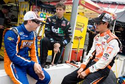 Kyle Busch, Joe Gibbs Racing Toyota, Denny Hamlin, Joe Gibbs Racing Toyota und Joey Logano, Joe Gibbs Racing Toyota