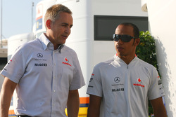 Martin Whitmarsh, McLaren, Chief Executive Officer and Lewis Hamilton, McLaren Mercedes