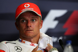 FIA press conference: second place Heikki Kovalainen, McLaren Mercedes