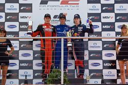 Podium celebrations: Kazim Vasilauskas, Julien Jousse and Mirko Bortlotti