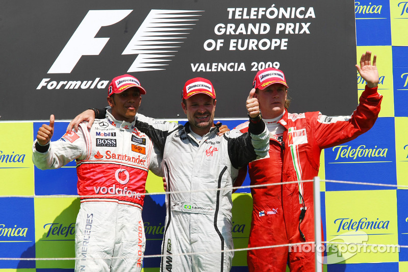 2009: 1. Rubens Barrichello, 2. Lewis Hamilton, 3. Kimi Räikkönen