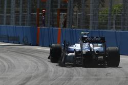 Kazuki Nakajima, Williams F1, a crevé