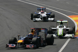 Mark Webber, Red Bull Racing et Jenson Button, Brawn GP
