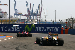 Luca Badoer, Scuderia Ferrari et Romain Grosjean, Renault F1 Team