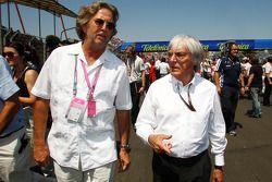 Eric Clapton and Bernie Ecclestone