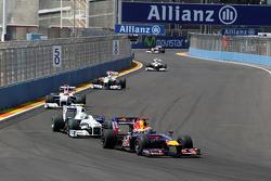 Mark Webber, Red Bull Racing, Nick Heidfeld, BMW Sauber F1 Team