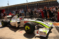 Race winner Rubens Barrichello, BrawnGP