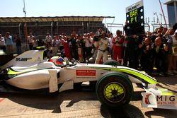 Race winner Rubens Barrichello, BrawnGP
