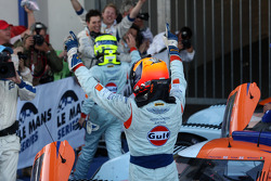 Victory celebrations for Aston Martin Racing
