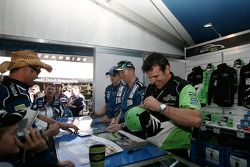 Jason Bright, Steven Richards and Mark Winterbottom signing autographs